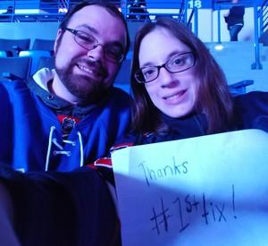 Ashley attended Hartford Wolf Pack vs. Springfield Thunderbirds - AHL on Jan 4th 2019 via VetTix