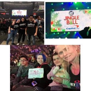 Jennifer attended 101. 3 Kdwb's Jingle Ball Presented by Capital One - Pop on Dec 3rd 2018 via VetTix