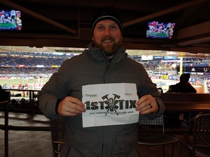 Sean attended 2018 Pinstripe Bowl on Dec 27th 2018 via VetTix