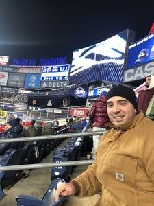 Nicholas attended 2018 Pinstripe Bowl on Dec 27th 2018 via VetTix