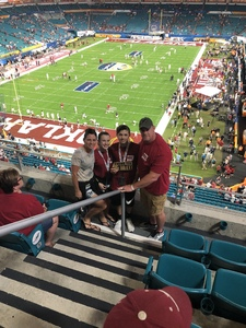 Mike attended 2018 Capital One Orange Bowl - Oklahoma Sooners vs. Alabama Crimson Tide - College Football Playoffs Semifinal Game on Dec 29th 2018 via VetTix