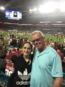 John attended 2018 Capital One Orange Bowl - Oklahoma Sooners vs. Alabama Crimson Tide - College Football Playoffs Semifinal Game on Dec 29th 2018 via VetTix