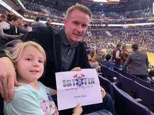 Tanner attended Phoenix Suns vs. LA Clippers - NBA on Jan 4th 2019 via VetTix