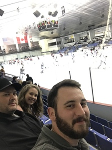 Fred attended Lone Star Brahmas vs Topeka Pilots - NAHL (02/16) on Feb 16th 2019 via VetTix