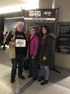 David K attended 2019 New York Open - Tennis: Quarter Finals Evening Session on Feb 15th 2019 via VetTix