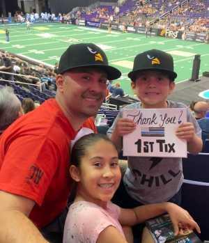 Ed attended Arizona Rattlers vs. Sioux Falls Storm - IFL on Mar 31st 2019 via VetTix
