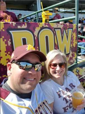 John attended Honor Row - Arizona State University Sun Devils vs. Michigan State - NCAA Men's Baseball on Mar 3rd 2019 via VetTix