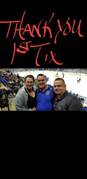 christopher attended Jacksonville Icemen vs. Florida Everblades - ECHL on Mar 3rd 2019 via VetTix