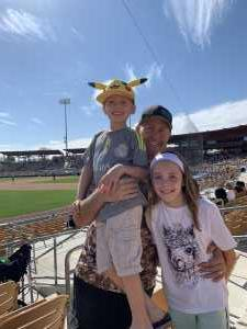 Jobe attended Chicago White Sox vs. Oakland Athletics - MLB Spring Training on Mar 10th 2019 via VetTix