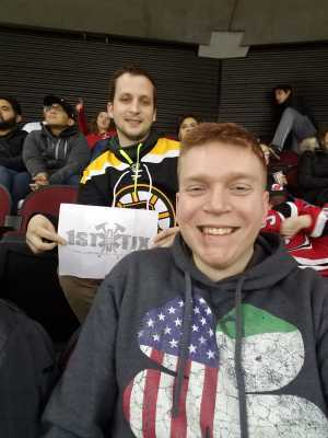 Web attended New Jersey Devils vs. Boston Bruins - NHL on Mar 21st 2019 via VetTix