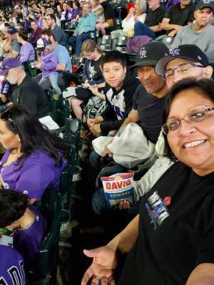 Celia Ornelas attended Colorado Rockies vs. Atlanta Braves - MLB on Apr 9th 2019 via VetTix