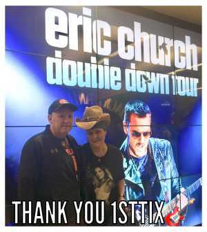 John attended Eric Church: Double Down Tour Friday Only on Apr 19th 2019 via VetTix