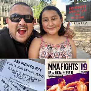 Miguel attended 559 Fights 71 - Live Mixed Martial Arts - Presented by 559 Fights on Apr 19th 2019 via VetTix