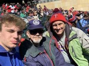 Dave attended Minnesota Twins vs. Detroit Tigers - MLB on Apr 14th 2019 via VetTix