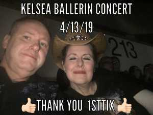 John attended Kelsea Ballerini on Apr 13th 2019 via VetTix