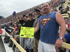 Chad attended Firekeepers Casino 400 - Monster Energy NASCAR Cup Series on Jun 9th 2019 via VetTix