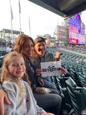 Charles attended Colorado Rockies vs. San Diego Padres - MLB on May 10th 2019 via VetTix