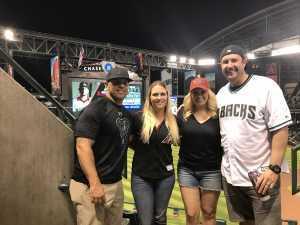 Leah  attended Arizona Diamondbacks vs. Pittsburgh Pirates - MLB on May 13th 2019 via VetTix