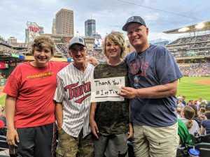 John attended Minnesota Twins vs Boston Red Sox - MLB on Jun 19th 2019 via VetTix