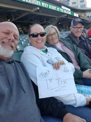 LARRY attended Dayton Dragons vs. Fort Wayne Tincaps - MiLB on Jun 10th 2019 via VetTix