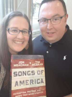 Byron attended Tim McGraw and Jon Meacham: Songs of America Book Tour on Jun 23rd 2019 via VetTix