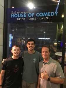 Patrick attended Rick Bronson's House of Comedy - Thursday 7:30PM - 16+ on Aug 15th 2019 via VetTix