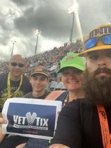Andy attended Bojangles' Southern 500 - Monster Energy NASCAR Cup Series on Sep 1st 2019 via VetTix
