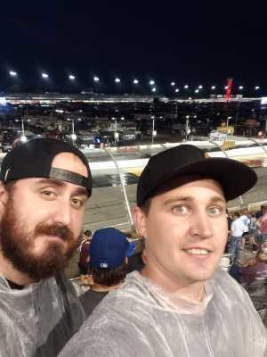 Matthew attended Bojangles' Southern 500 - Monster Energy NASCAR Cup Series on Sep 1st 2019 via VetTix