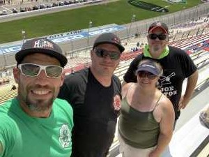 Jerry attended Consumers Energy 400 - Monster Energy NASCAR Cup Series on Aug 11th 2019 via VetTix
