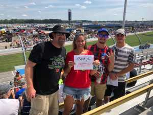 Jessica attended Consumers Energy 400 - Monster Energy NASCAR Cup Series on Aug 11th 2019 via VetTix