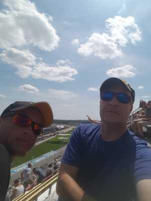 Tom attended Consumers Energy 400 - Monster Energy NASCAR Cup Series on Aug 11th 2019 via VetTix