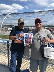 David attended Consumers Energy 400 - Monster Energy NASCAR Cup Series on Aug 11th 2019 via VetTix