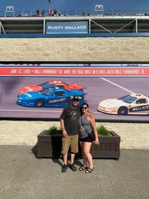 Kristen attended Consumers Energy 400 - Monster Energy NASCAR Cup Series on Aug 11th 2019 via VetTix