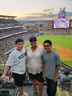 Celia attended Colorado Rockies vs. Arizona Diamondbacks - MLB on Aug 12th 2019 via VetTix