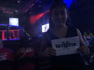 Ellen attended CFFC 77 - Live Mixed Martial Arts - Presented by Cage Fury Fighting Championships on Aug 16th 2019 via VetTix