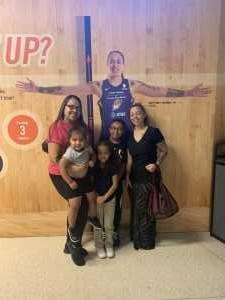 Sydney attended Phoenix Mercury vs. Atlanta Dream - WNBA on Aug 16th 2019 via VetTix