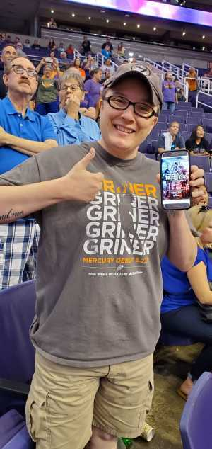 Jimmie Anne attended Phoenix Mercury vs. New York Liberty - WNBA on Aug 18th 2019 via VetTix