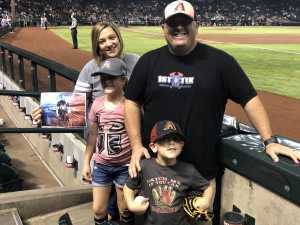 Ryan (Current Fire Captain / Paramedic) attended Arizona Diamondbacks vs. San Diego Padres - MLB - First Responders Thank You on Sep 3rd 2019 via VetTix