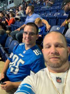 Thomas attended Detroit Lions vs. New England Patriots - NFL Preseason on Aug 8th 2019 via VetTix