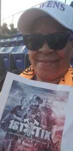 Patricia Cochrane  attended Baltimore Ravens vs. Jacksonville Jaguars - NFL on Aug 8th 2019 via VetTix