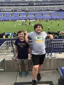 Joseph attended Baltimore Ravens vs. Green Bay Packers - NFL on Aug 15th 2019 via VetTix