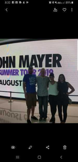 Edward attended John Mayer - Pop on Aug 6th 2019 via VetTix