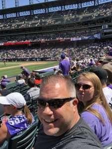 Bruce attended Colorado Rockies vs. Arizona Diamondbacks - MLB on Aug 14th 2019 via VetTix