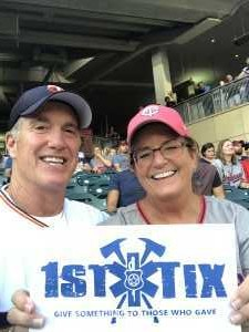 Jim and Lynn attended Minnesota Twins vs. Washington Nationals - MLB on Sep 10th 2019 via VetTix