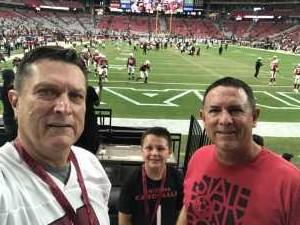 Marty attended Arizona Cardinals vs. Oakland Raiders - NFL Preseason on Aug 15th 2019 via VetTix