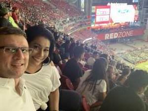 William attended Arizona Cardinals vs. Oakland Raiders - NFL Preseason on Aug 15th 2019 via VetTix