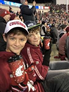 Tearsa attended Washington State Cougars vs. Oregon State - NCAA Football *see Notes on Nov 23rd 2019 via VetTix