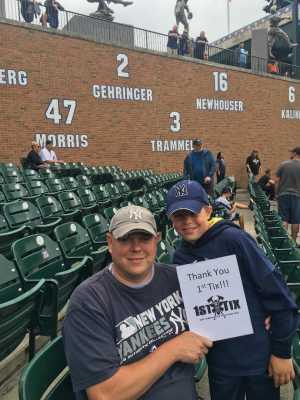 Mike attended Detroit Tigers vs. New York Yankees - MLB on Sep 12th 2019 via VetTix