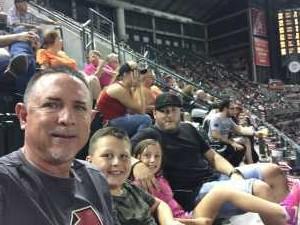 Richard attended Arizona Diamondbacks vs. Cincinnati Reds - MLB on Sep 13th 2019 via VetTix