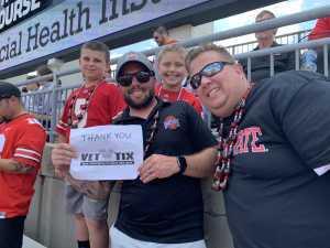 Jamie attended Ohio State Buckeyes Football vs. Cincinnati Bearcats - NCAA Football on Sep 7th 2019 via VetTix